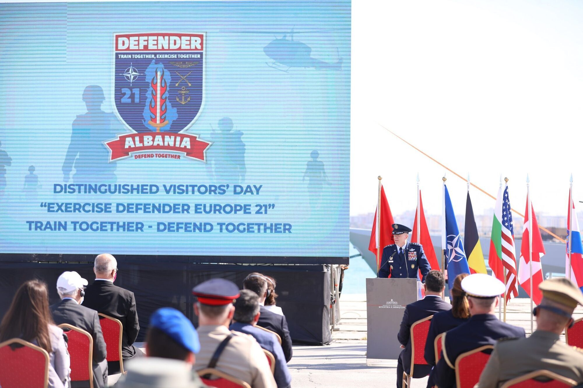 Военные учения в Албании.