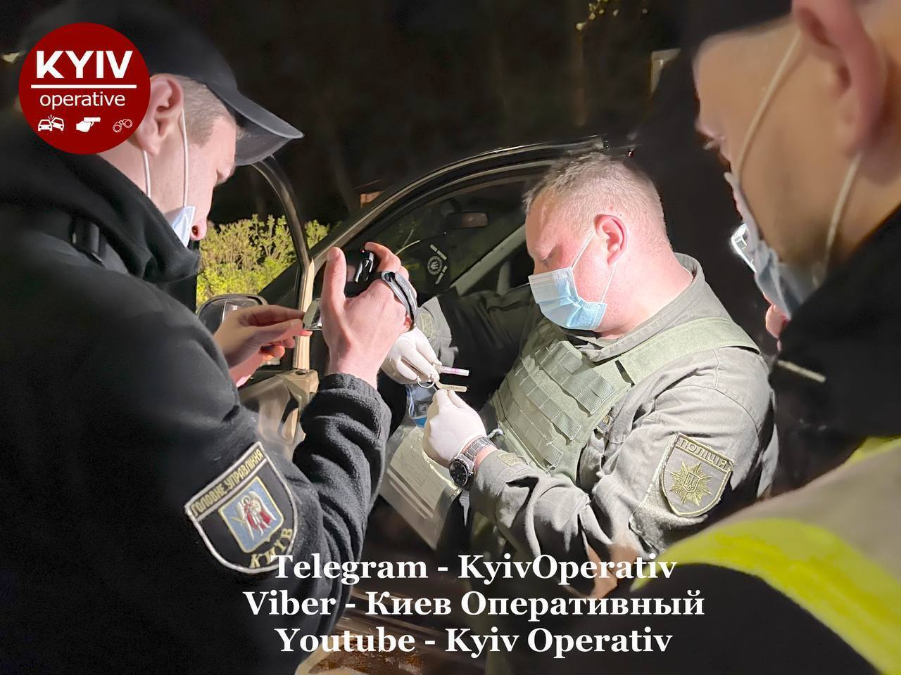 У Києві затримали нетверезого водія без прав із гранатою в авто. Фото