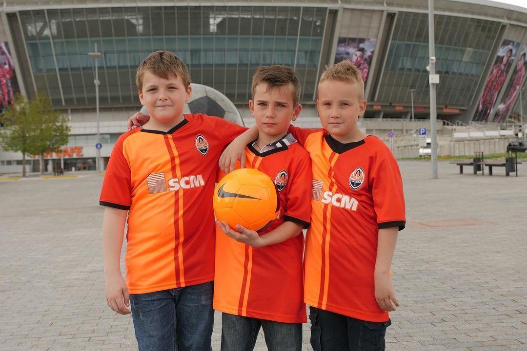 Донбасс Арена и юные футболисты