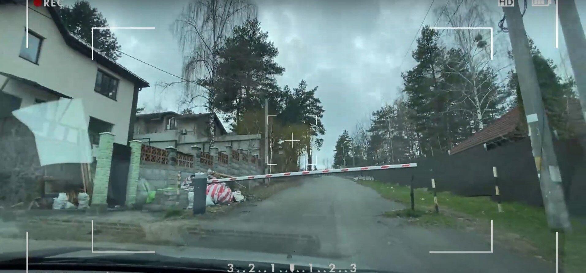 Дорога до будинку Світлани Лободи.
