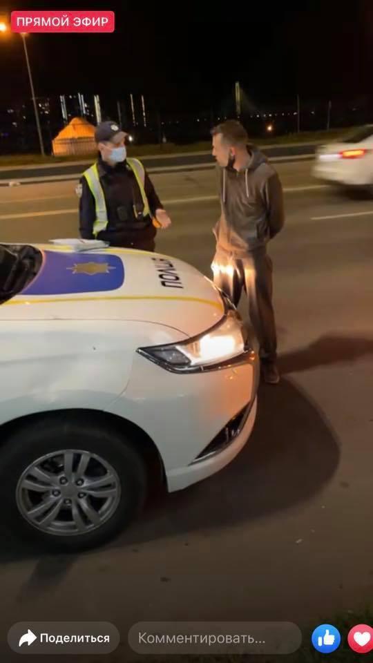 Майман залишив на поліцейському авто вм'ятину
