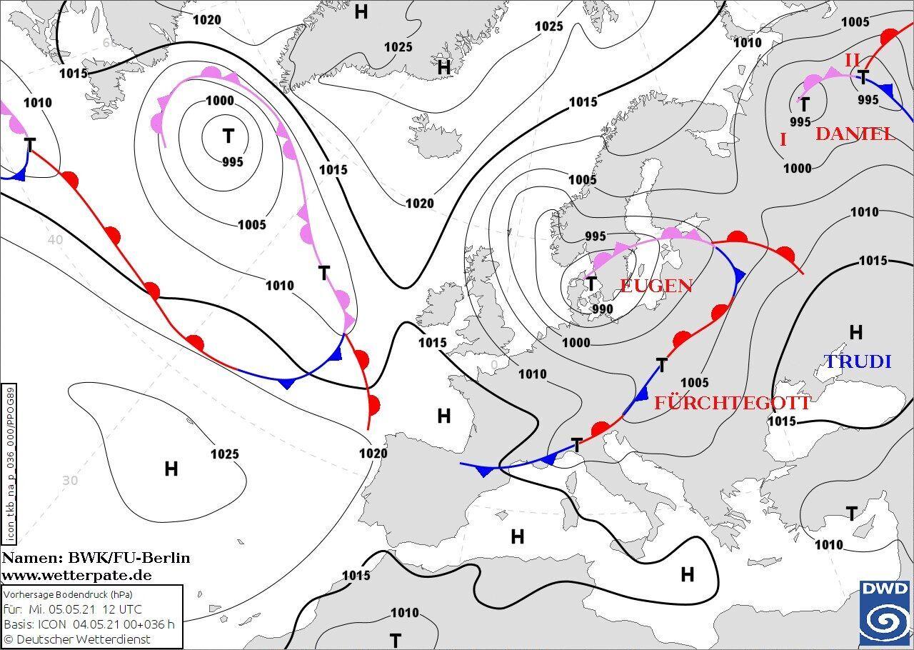 Украину окружат циклоны и атмосферные фронты