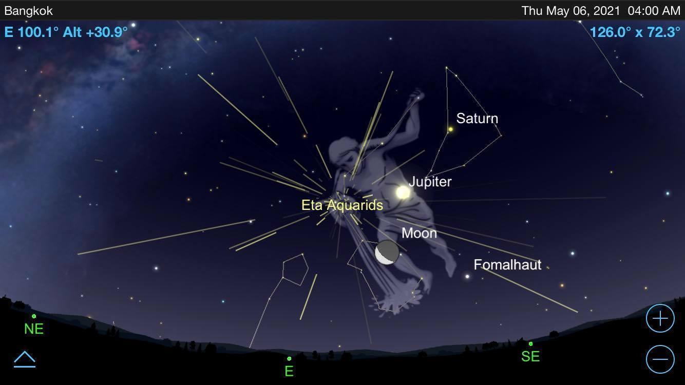 Как увидеть Эта-Аквариды: карта неба