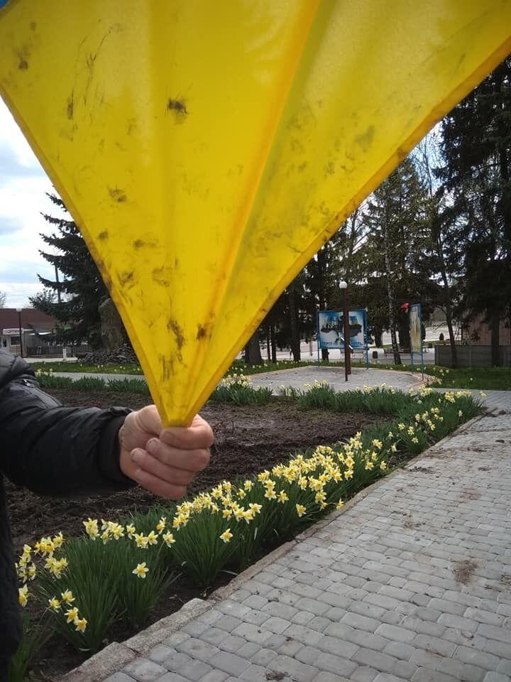 На Вінниччині раніше судимий чоловік витер руки об прапор України