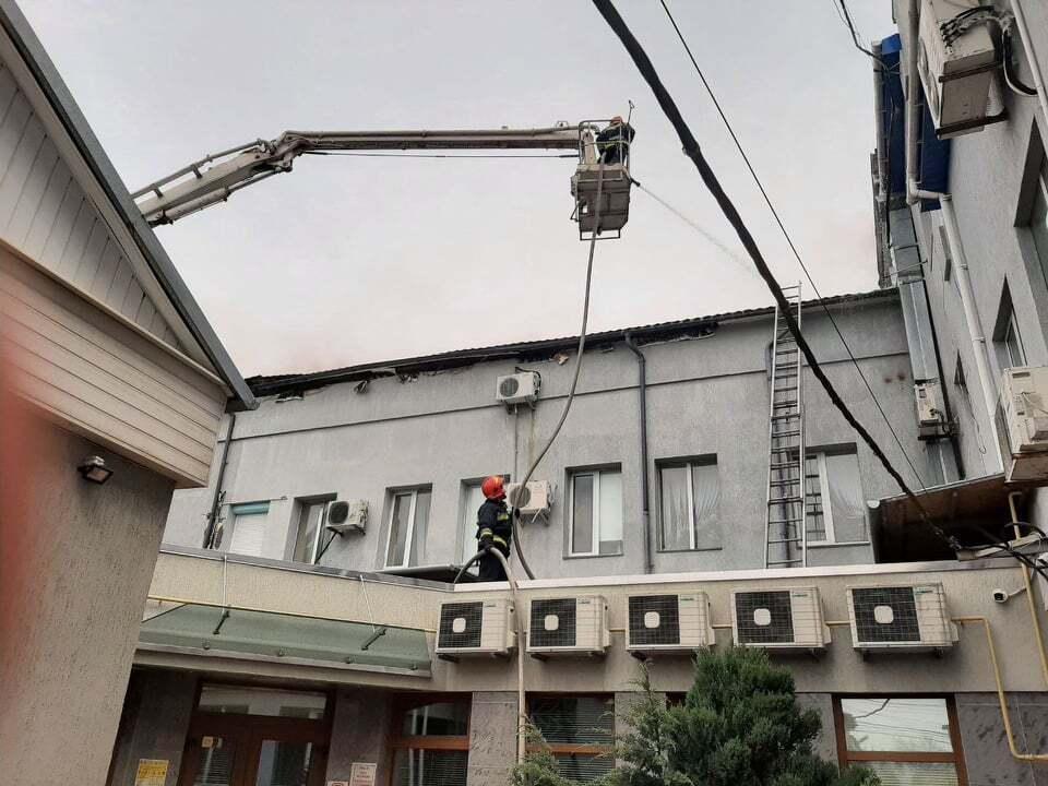 В Виннице загорелся офисный центр