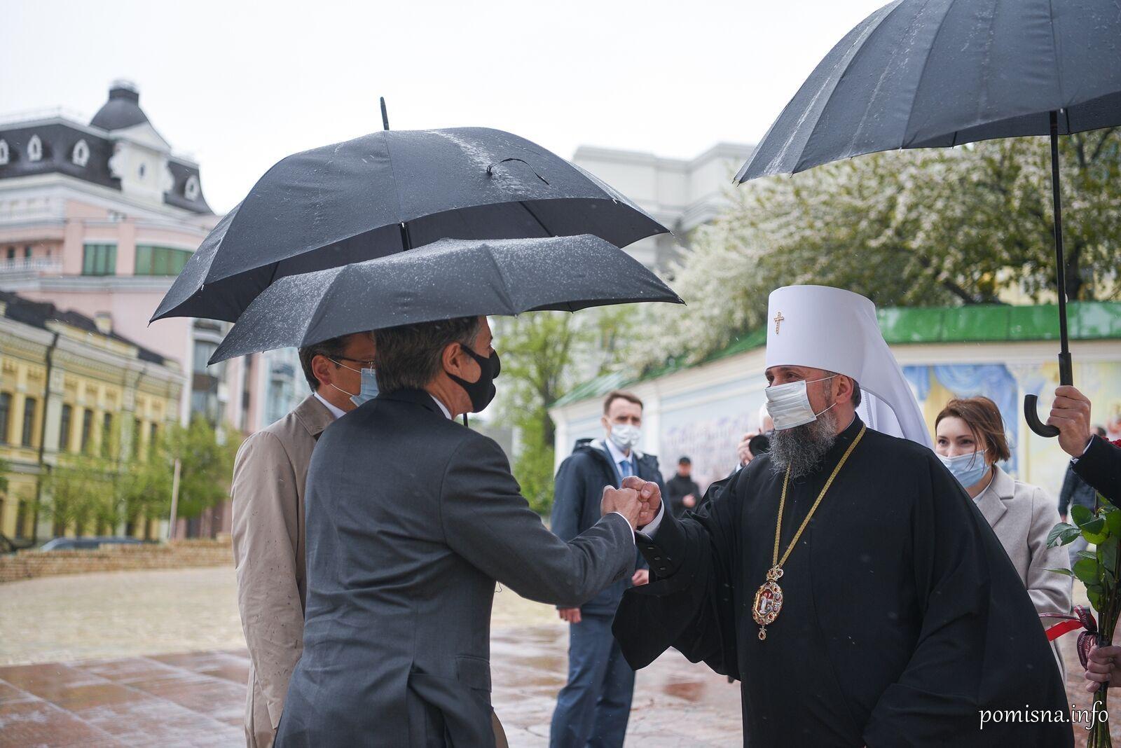 У Михайлівському Золотоверхому монастирі відбулася зустріч митрополита Епіфанія та Ентоні Блінкена