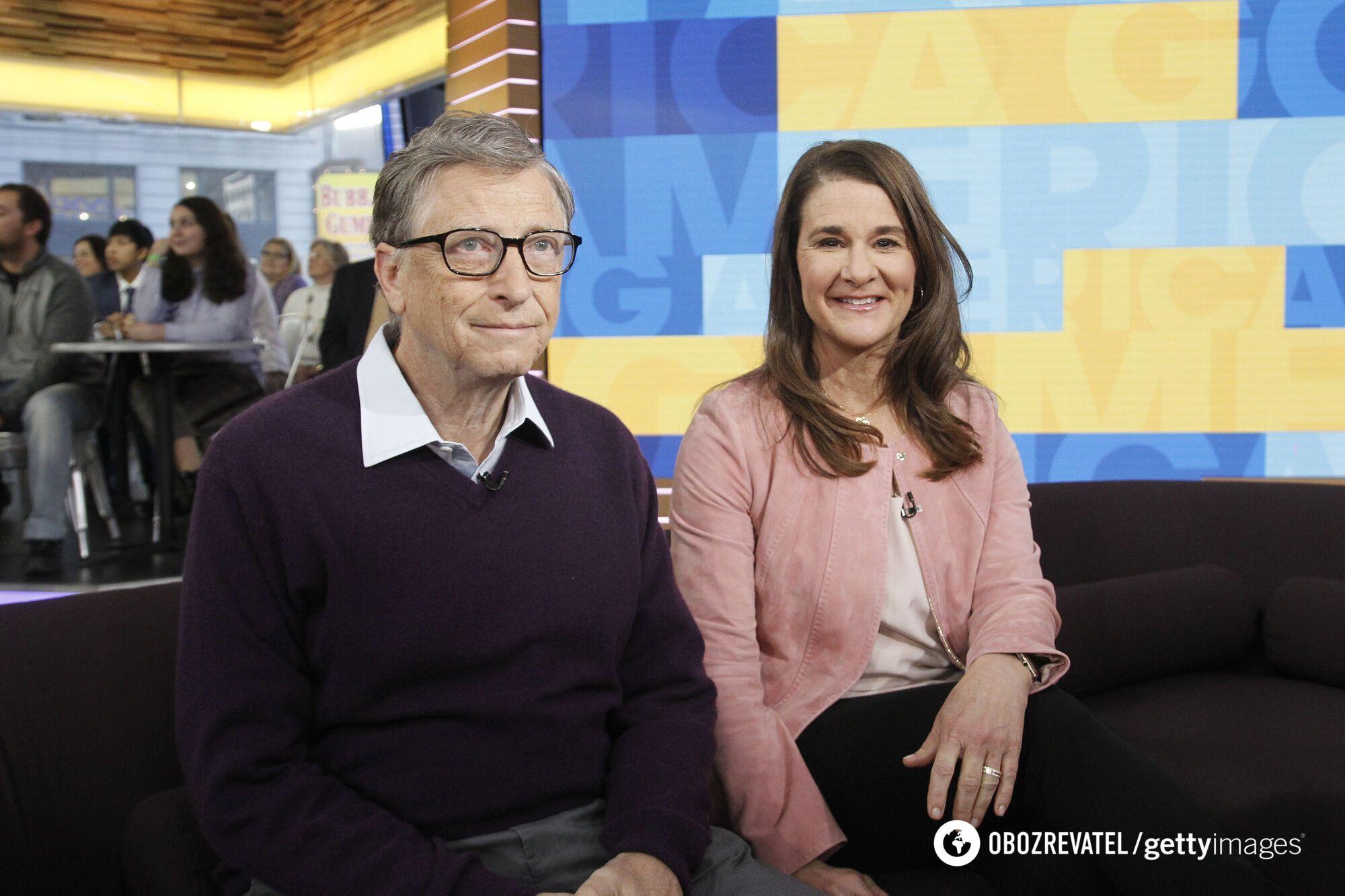 Билл Гейтс со своей супругой Мелиндой.