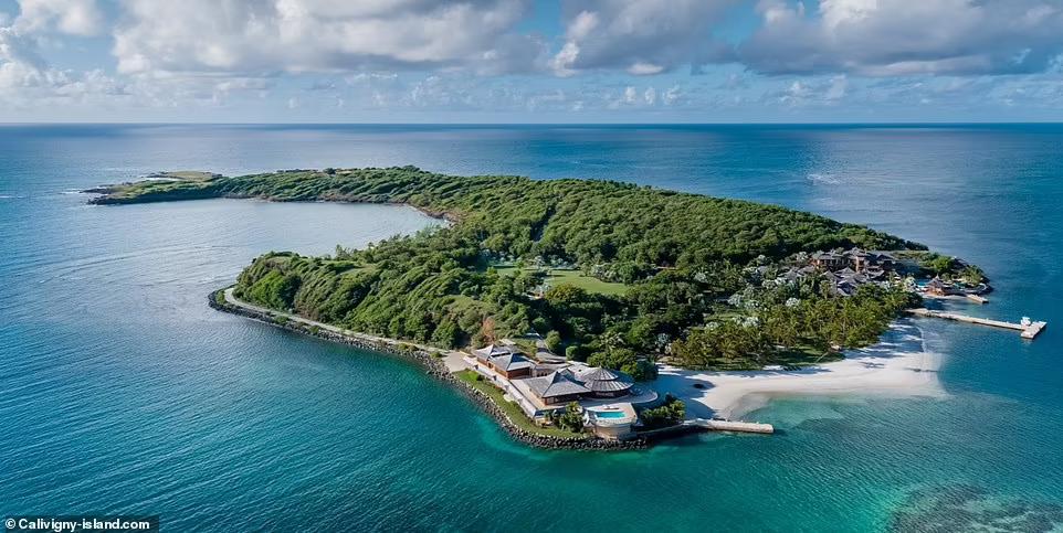 Супруга знаменитости даже арендовала частный карибский остров Каливиньи