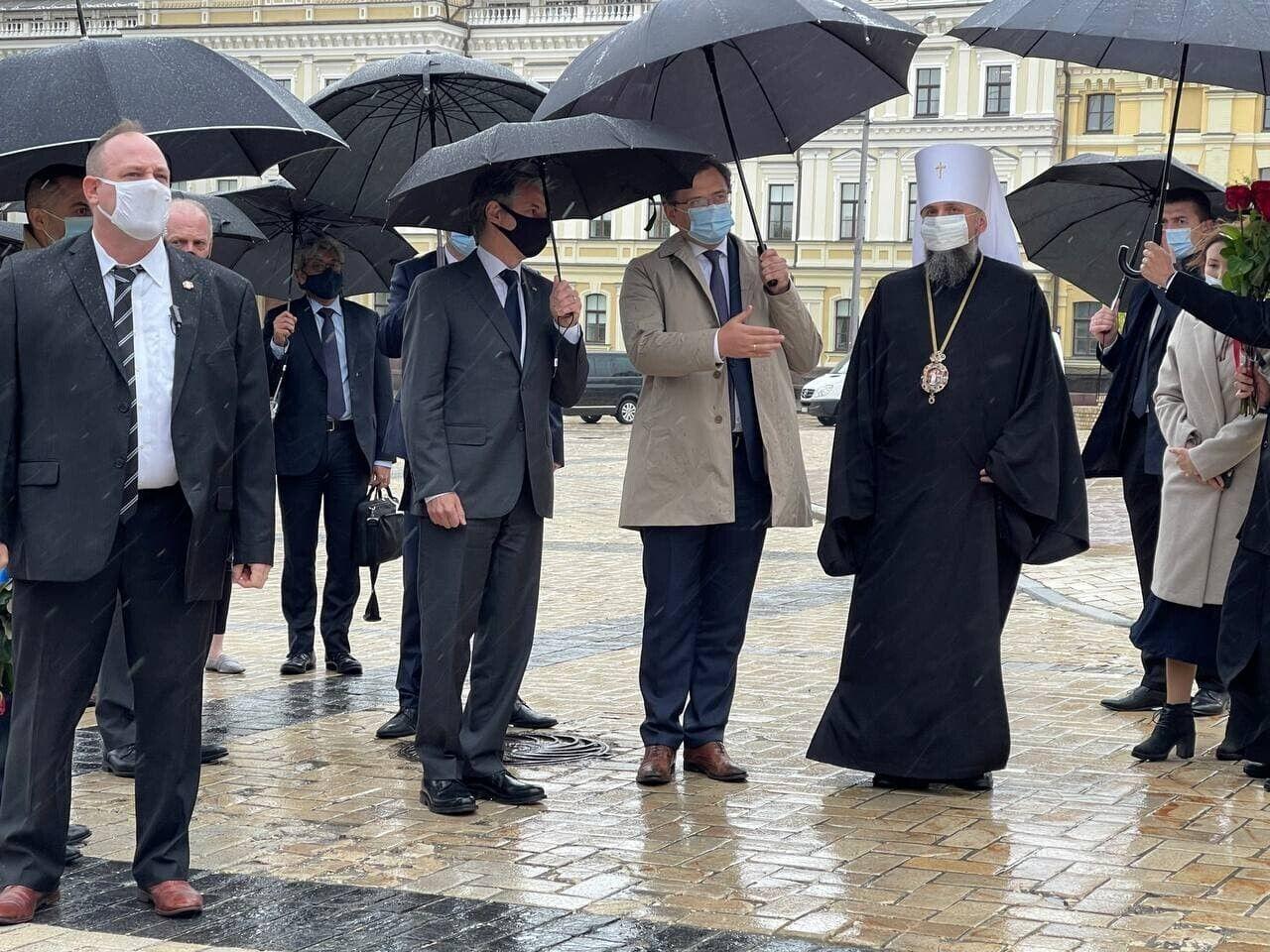 Ентоні Блінкен відвідав Михайлівський Золотоверхий монастир
