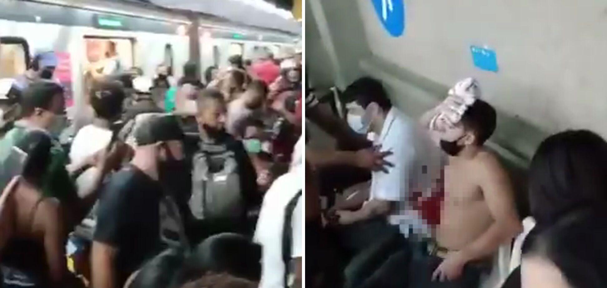 У перестрілці постраждали пасажири метро.