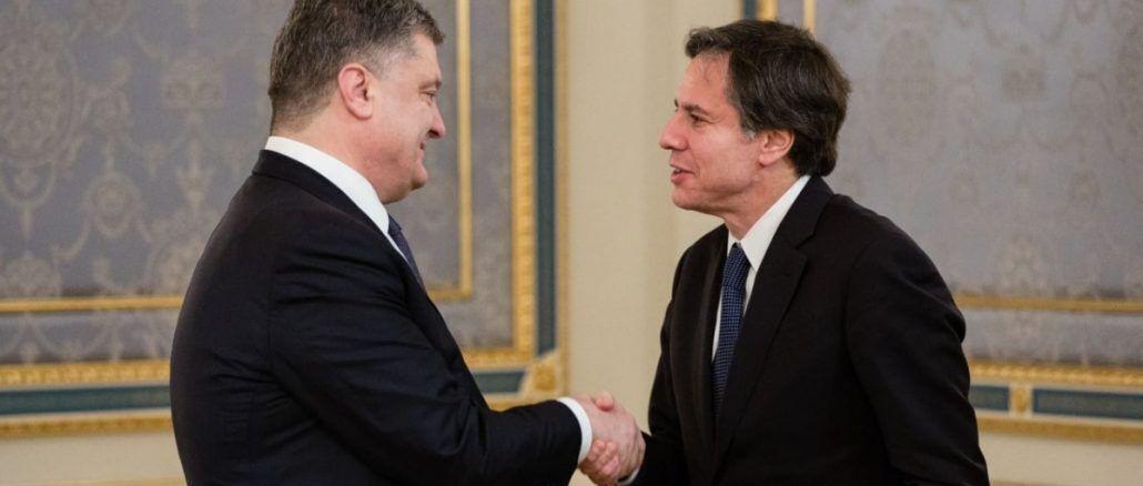 Петр Порошенко встретился с Энтони Блинкеном