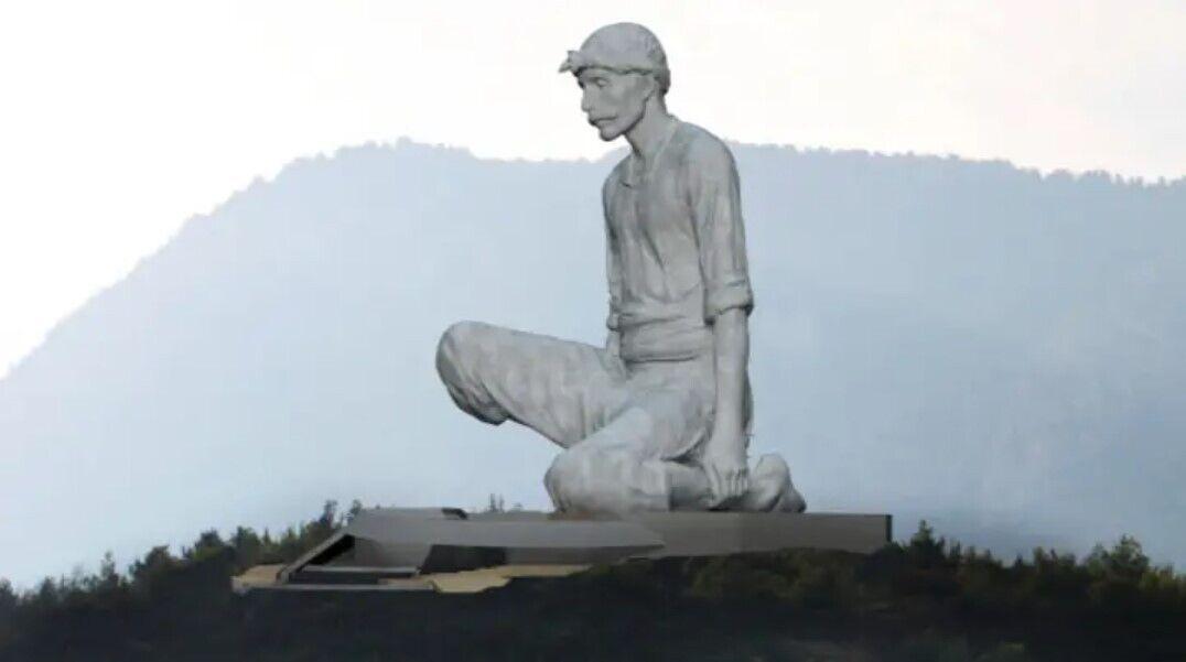 Статуя, яка буде встановлена на Кіпрі.