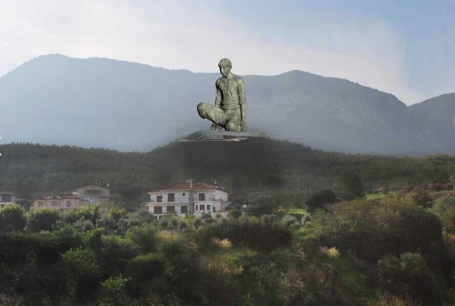 """Статуя """"Благородного селянина""""."""