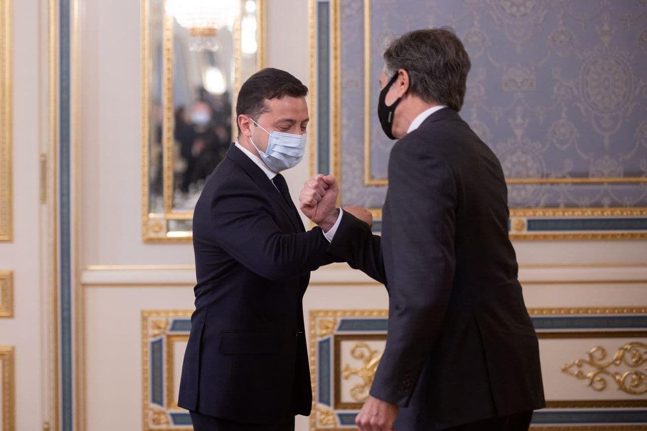 Президент України Володимир Зеленський зустрівся із держсекретарем США Ентоні Блінкеном