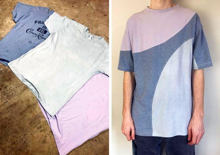 Три старі футболки перетворилися в одну трендову