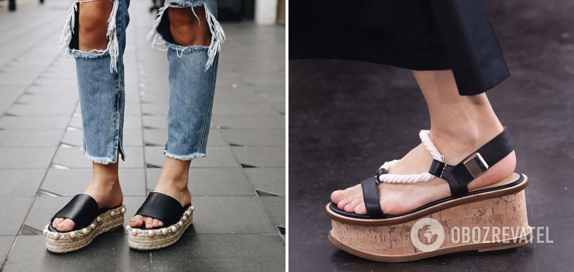 Обувь с грубой подошвой с декором стала трендом в 2021