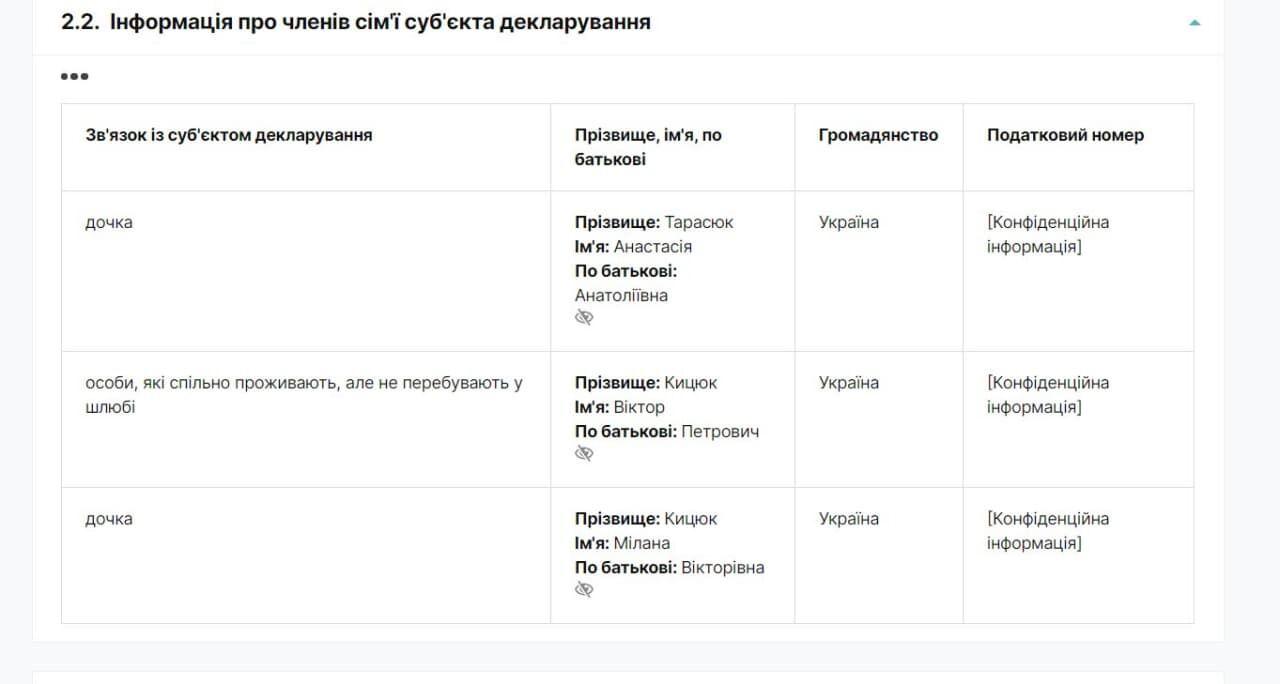 Декларация судьи Печерского райсуда Киева Кристины Константиновой