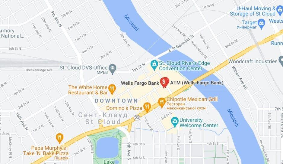 Інцидент трапився у відділенні банку Wells Fargo в Сент-Клауді