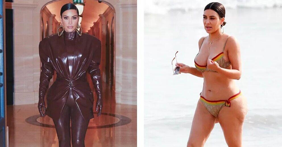 Як виглядає Кім Кардаш'ян у вечірньому вбранні й купальнику