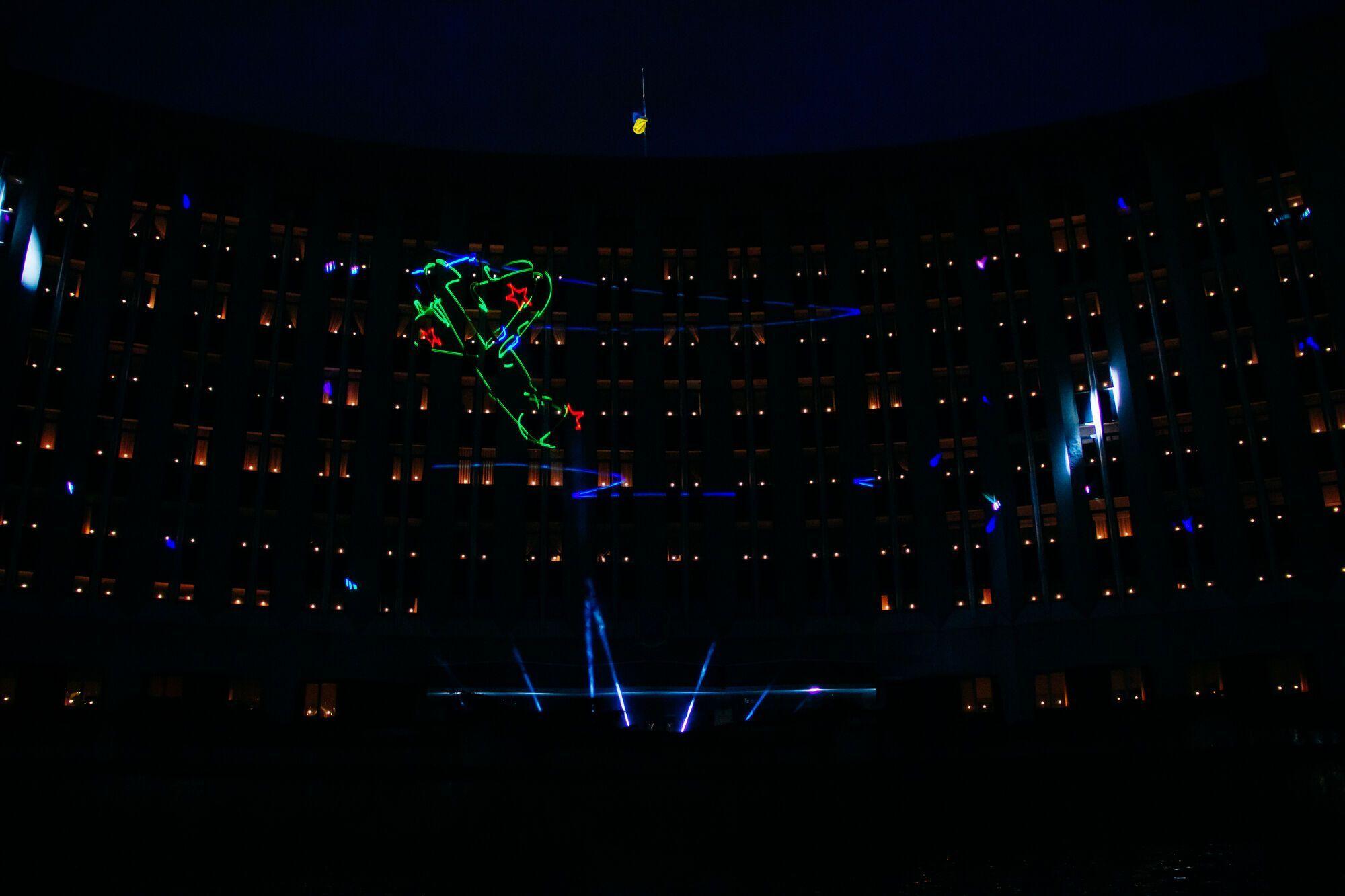 Лазерное шоу ко Дню памяти и примирения.