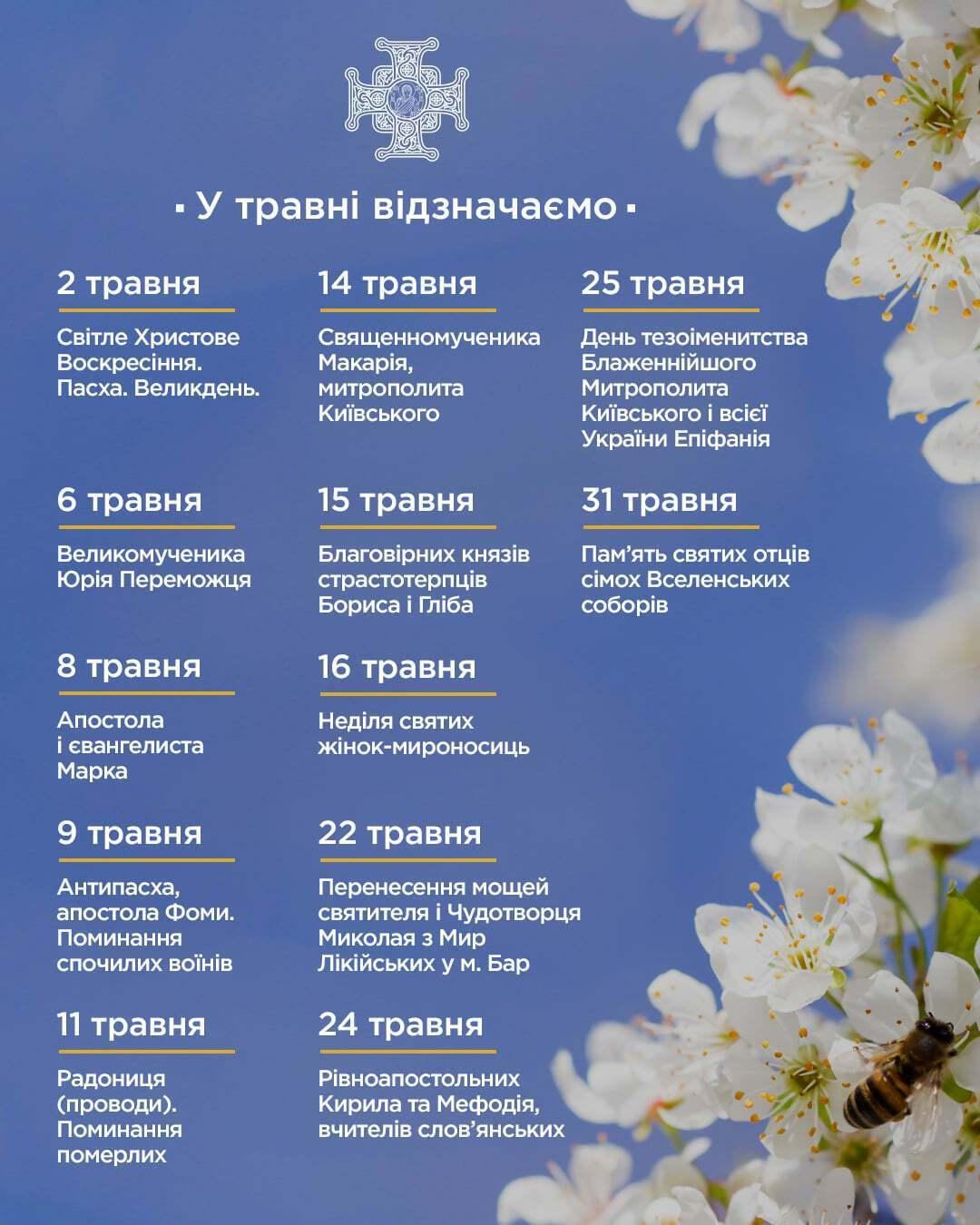 Календарь праздников на май 2021 года