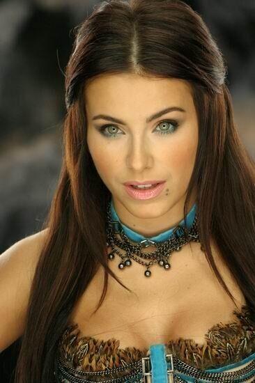 Ани Лорак на сьемках клипа (2005)
