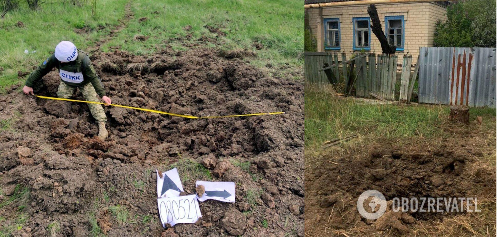 Наслідки обстрілу найманцями житлового сектору Мар'їнки