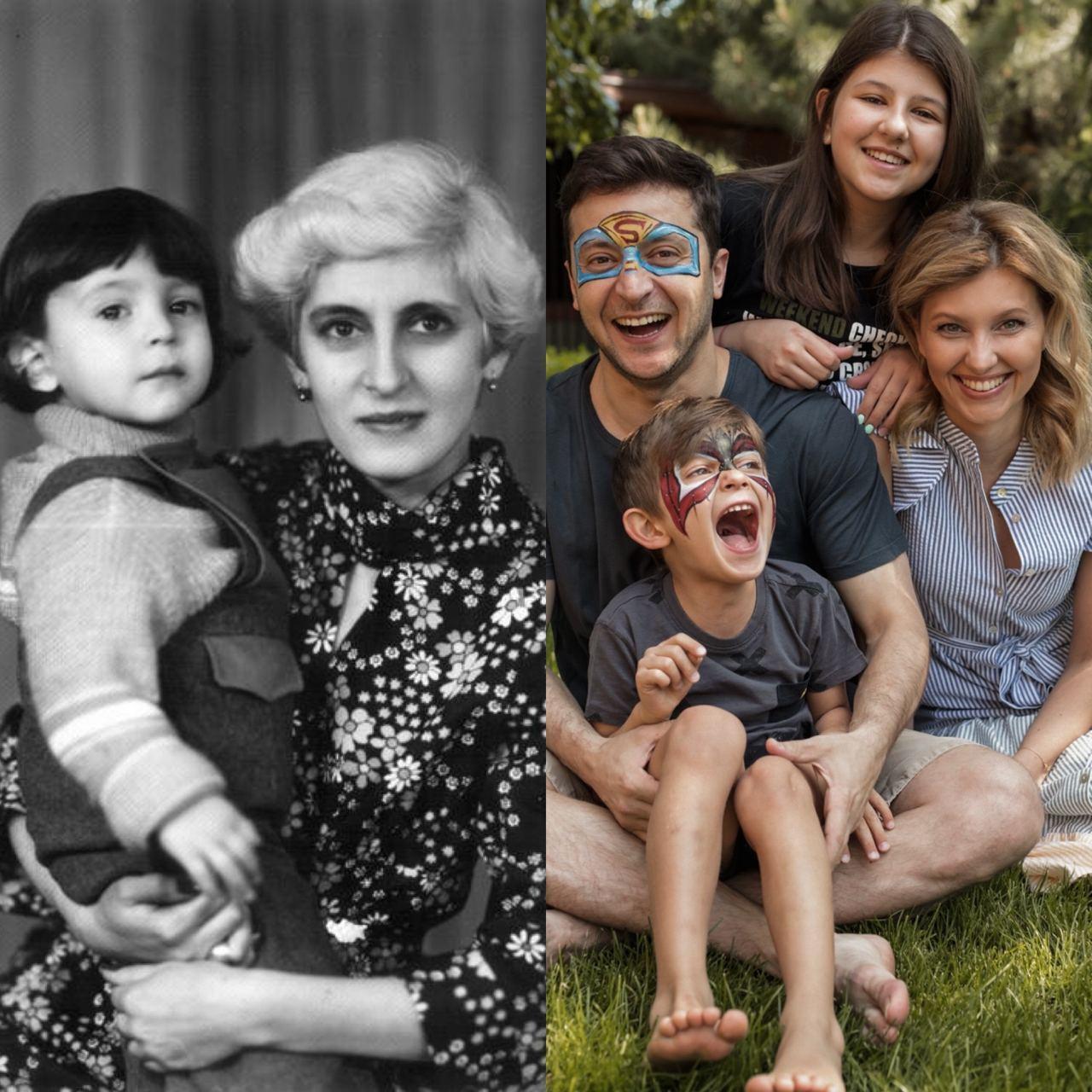 У День матері Зеленський поділився двома сімейними фото