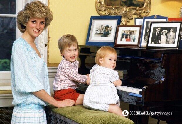Принцеса Діана і її діти – принц Вільяма і принц Гаррі