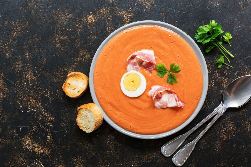 Вкусный суп из томатным соком
