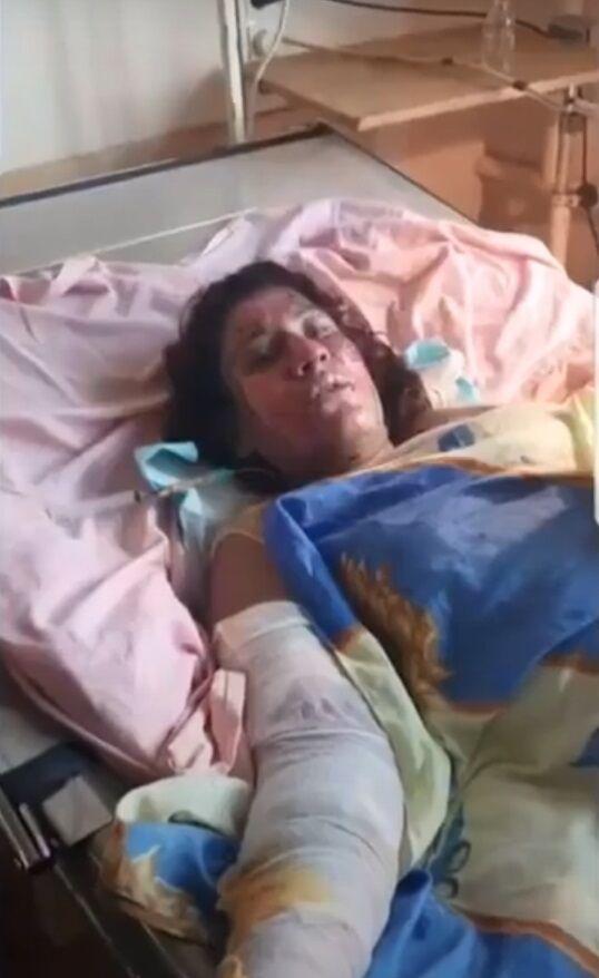 Потерпевшая женщина на момент пребывания в больнице