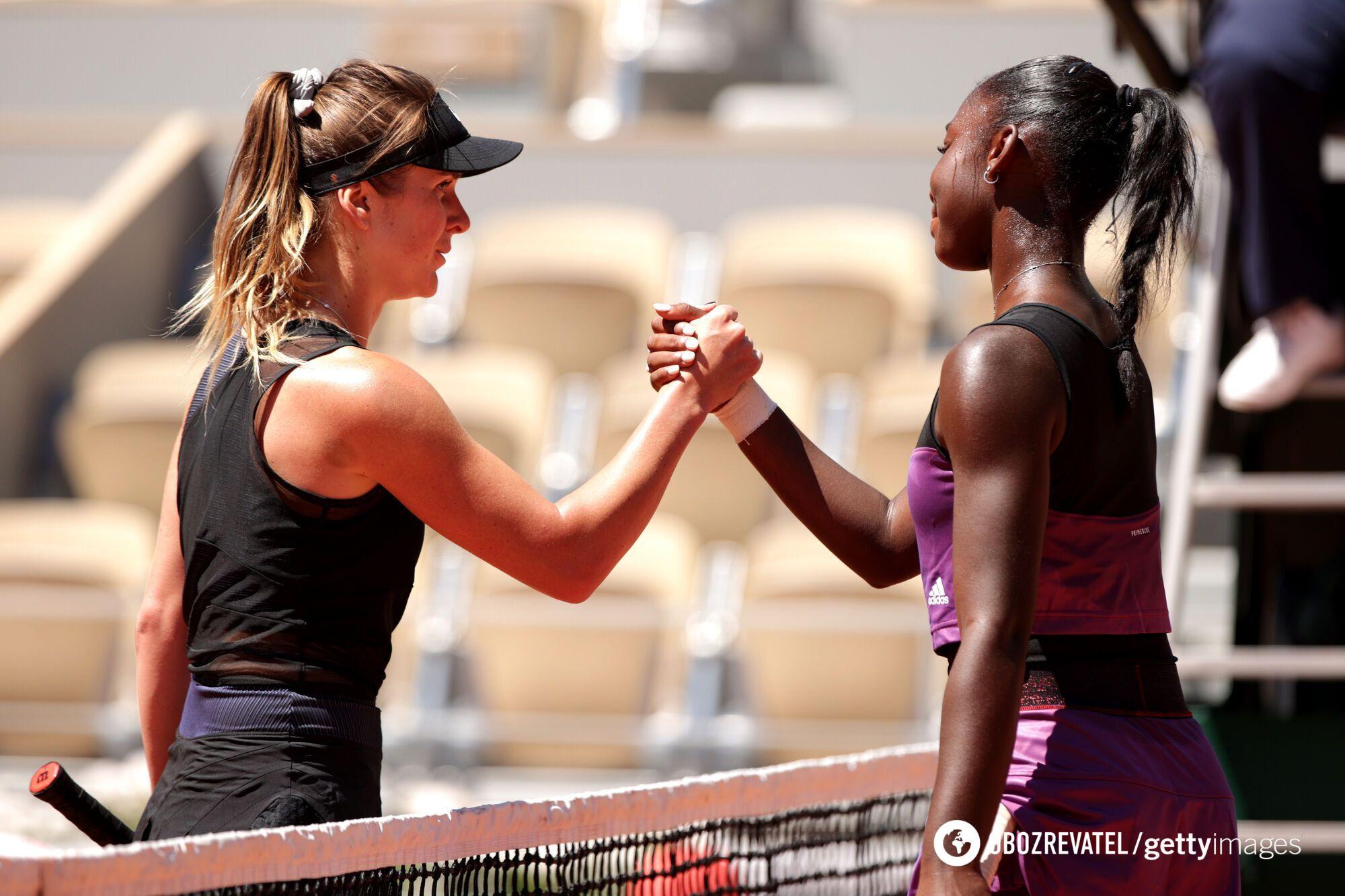 Свитолина и Бабель после матча.