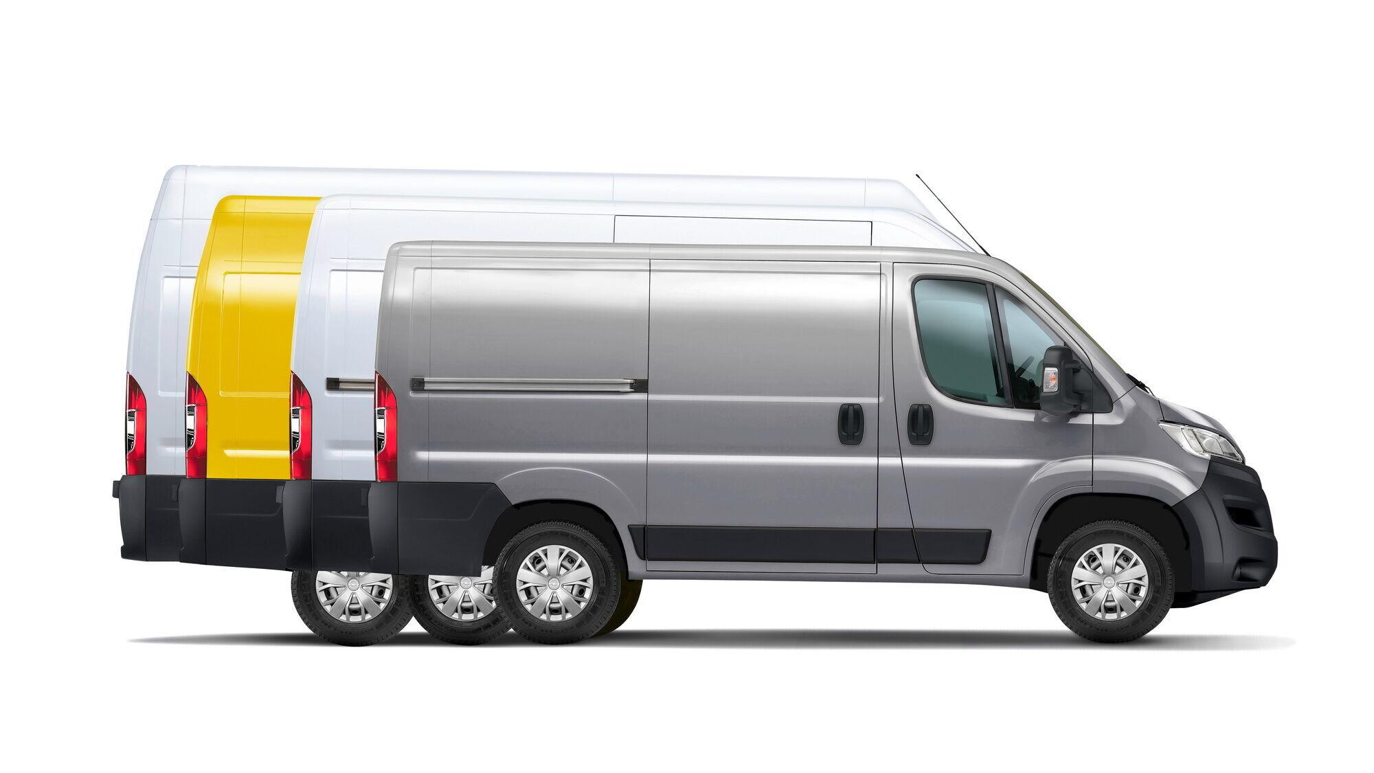У Європі новий Movano буде запропонований в чотирьох варіантах по довжині кузова і в трьох по висоті