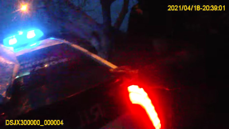 Поліцейське авто на місці інциденту