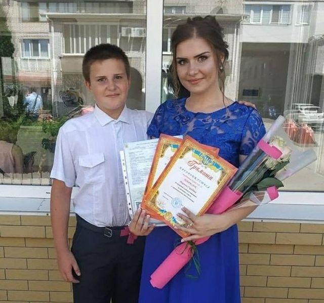 Андрій із сестрою Мариною.