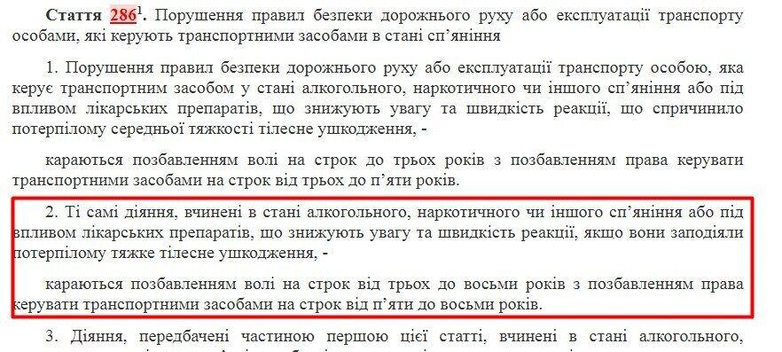 Поліція відкрила кримінальне провадження за ч.2 ст.286-1 КК України.