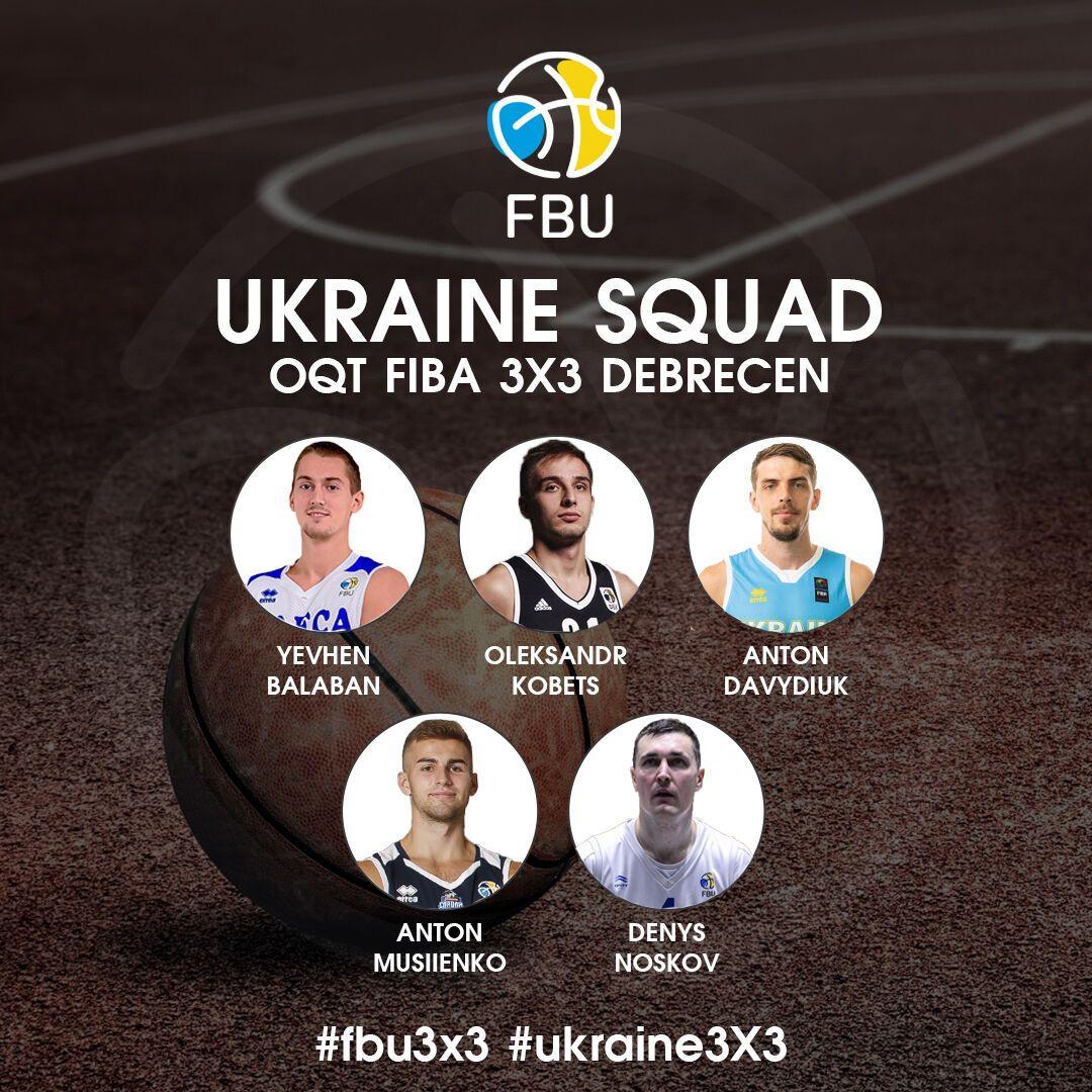 Состав сборной Украины по баскетболу 3х3.