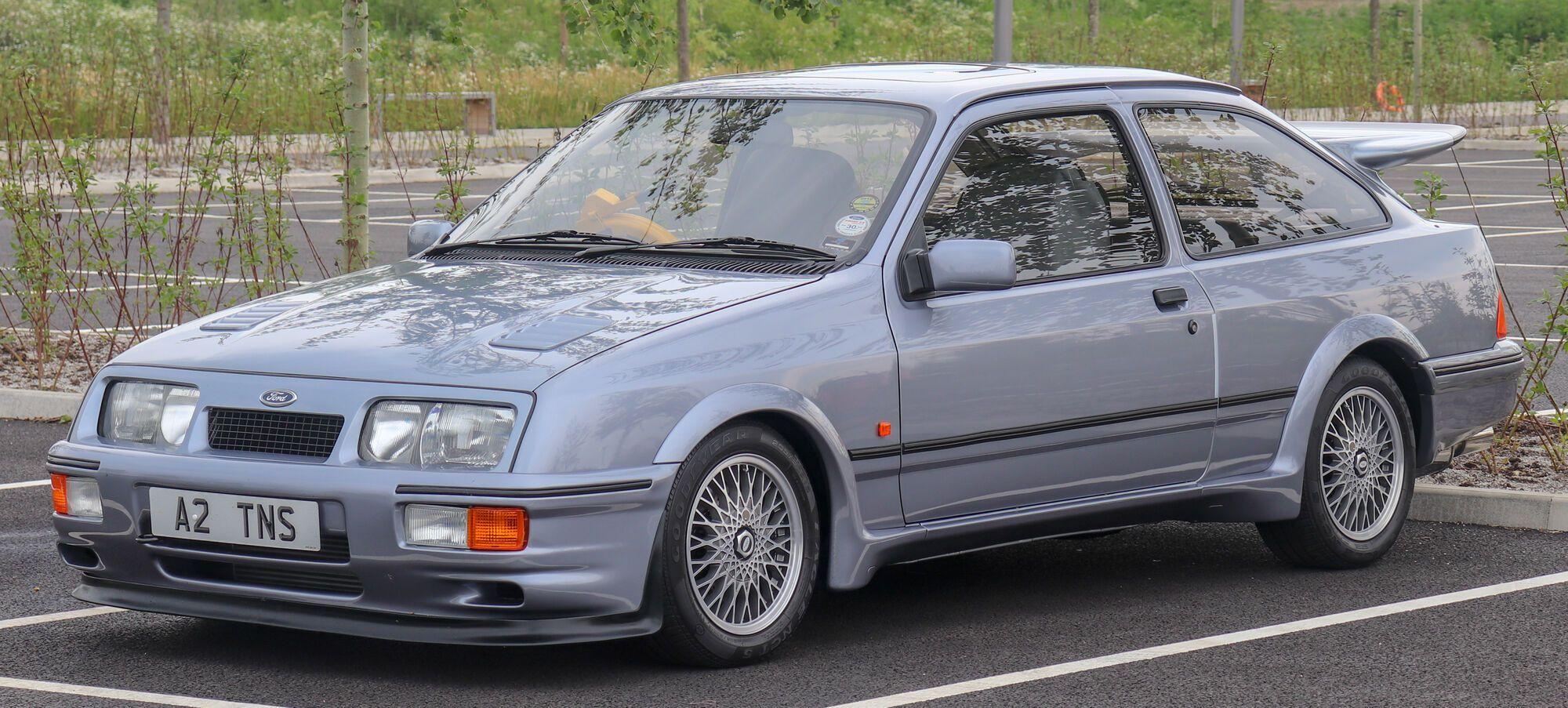 В Европе очень любят авто 80-х, такие как Ford Sierra Cosworth