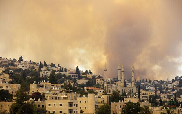 Вогонь спалахнув у декількох районах.