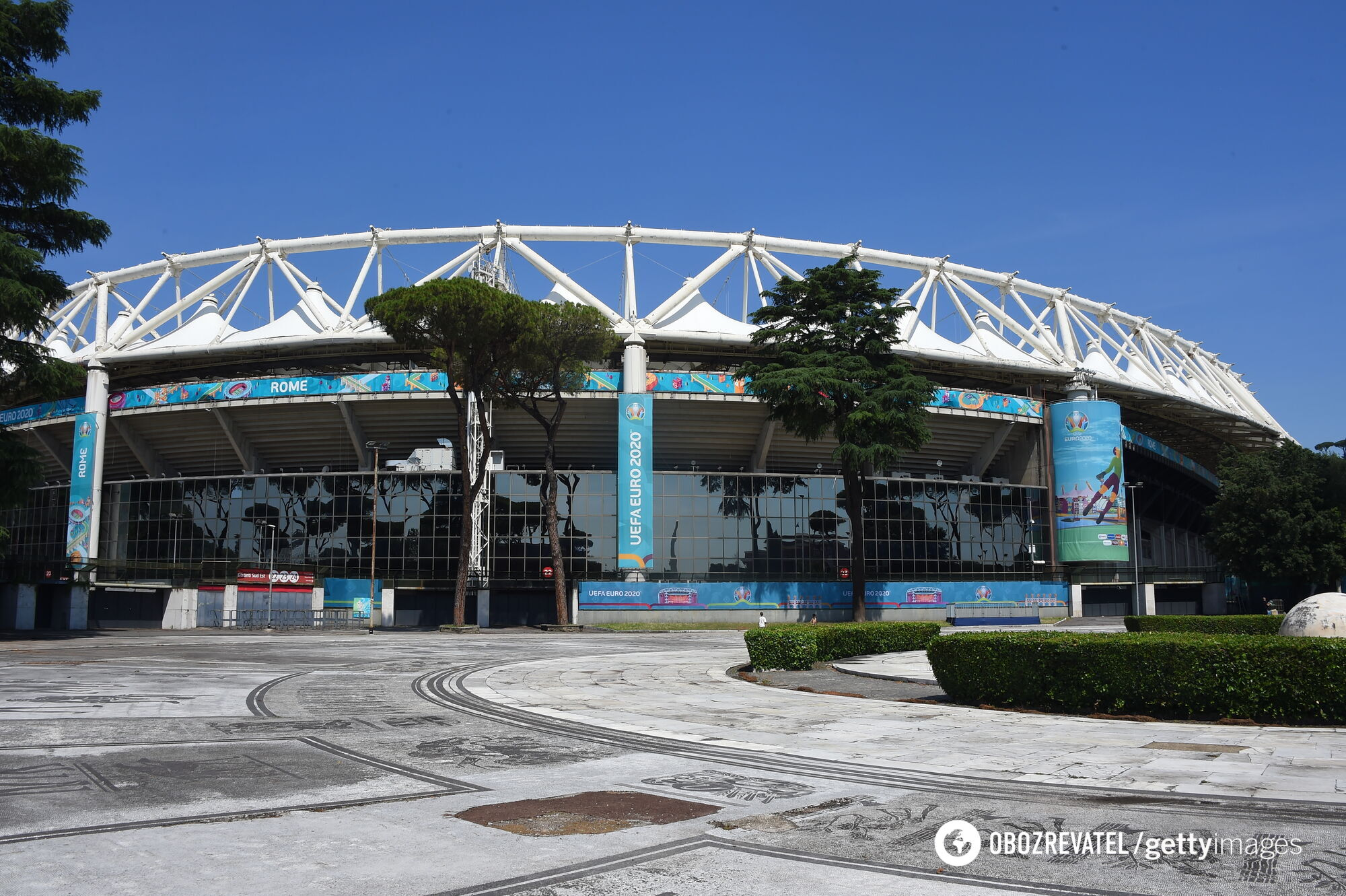 """Стадион """"Стадио Олимпико"""" в Риме."""