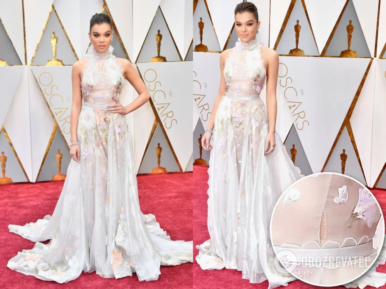Хейли Стейнфилд появилась на ковровой дорожке в рваном платье
