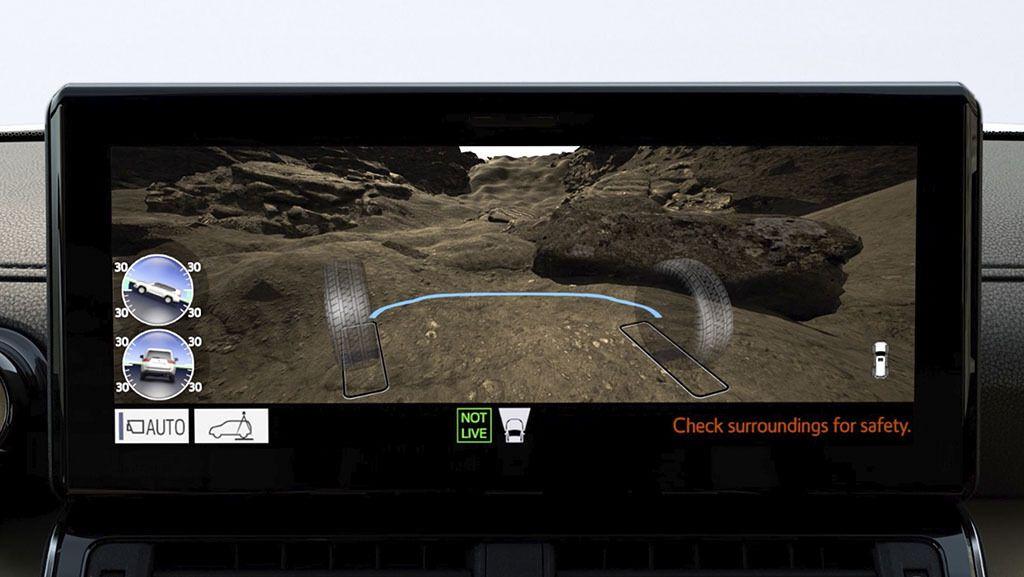 Cистема Multi-Terrain Monitor показує на дисплеї об'ємне зображення того, що відбувається під днищем і навколо автомобіля