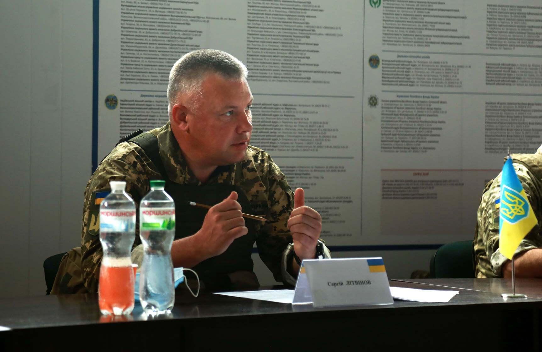 Украинский полковник Сергей Литвинов