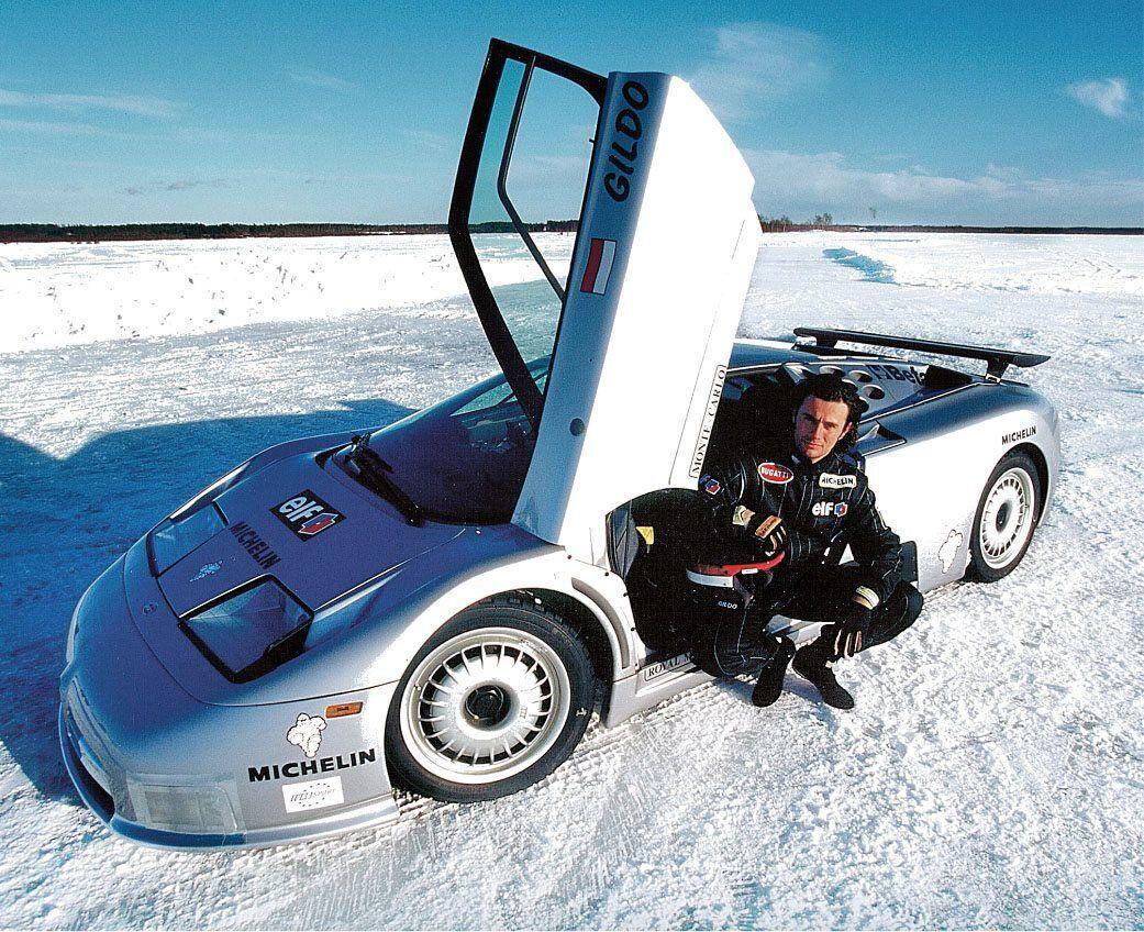 У березні 1995 року Гільдо встановили світовий рекорд швидкості на льоду за кермом суперкара Bugatti EB 110 Super Sport, показавши середню швидкість 296 км/год
