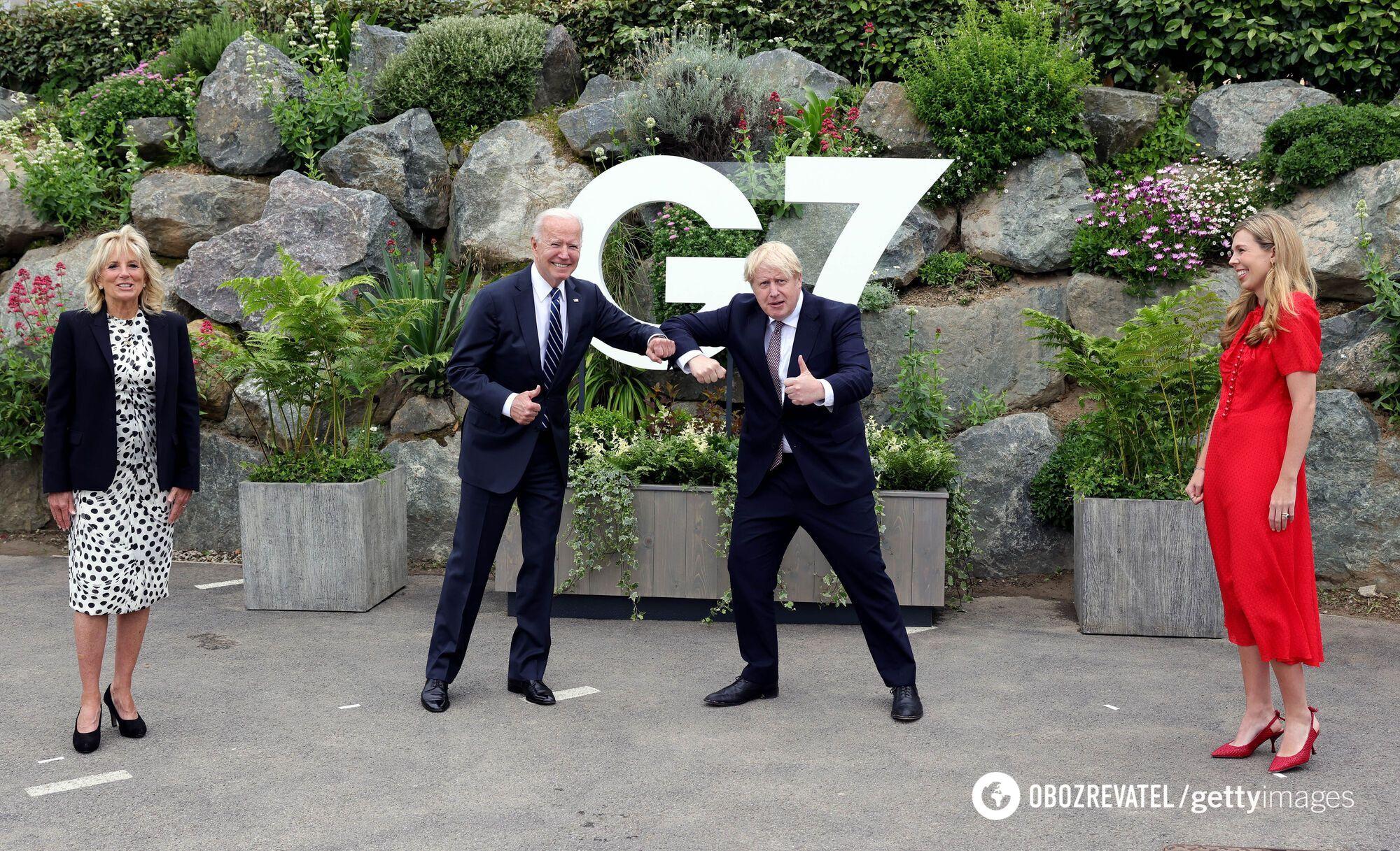 Байден и Джонсон перед саммитом