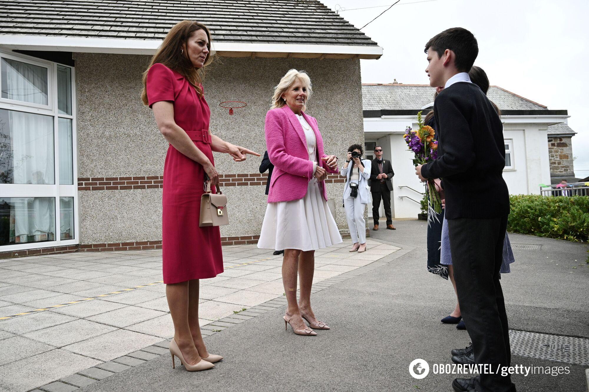 Герцогиня Кембриджська Кейт Міддлтон і перша леді США Джилл Байден
