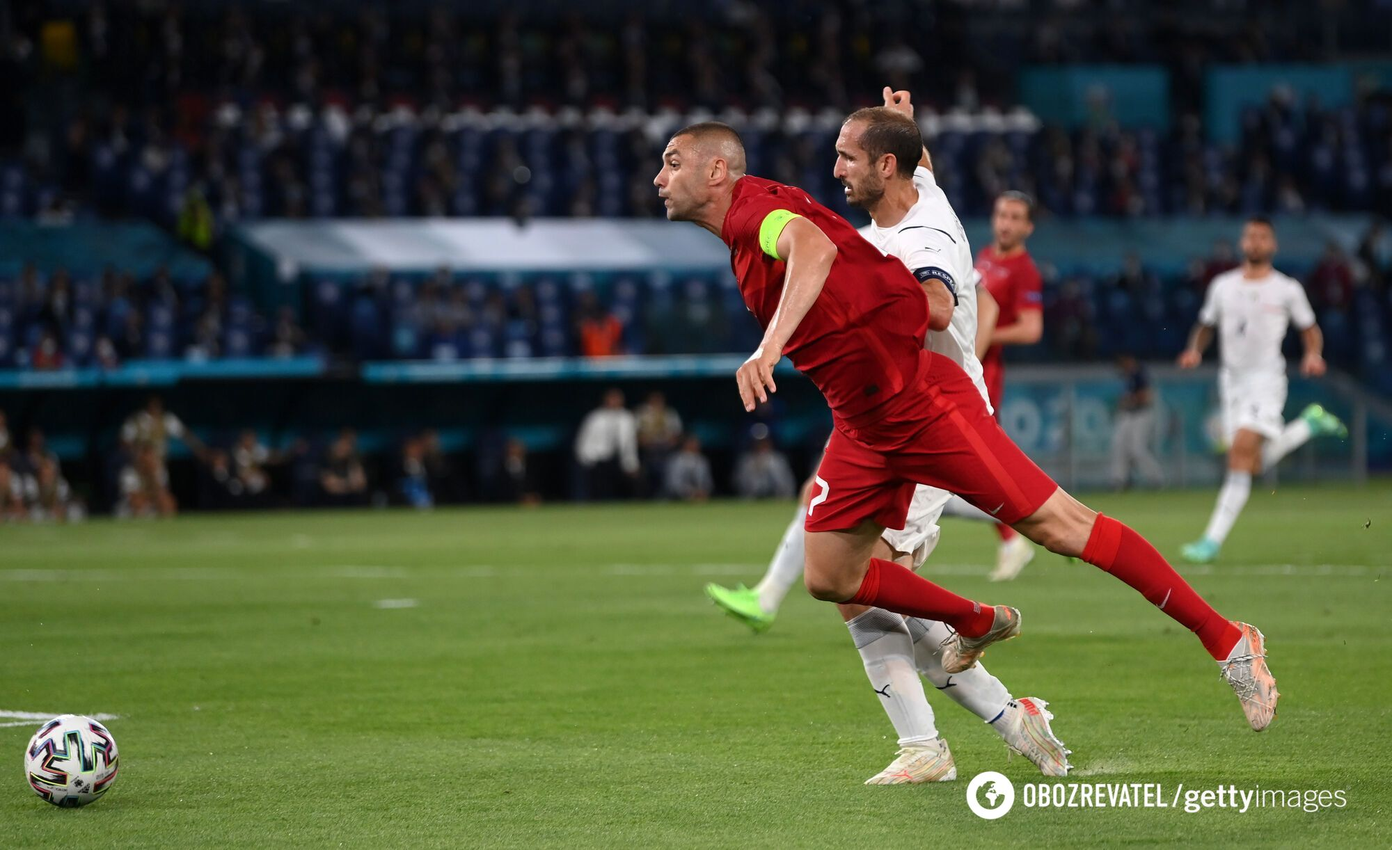 Весь матч пройшов біля турецьких воріт
