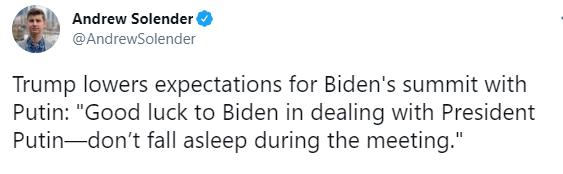 Трамп – Байдену: не засніть на зустрічі з Путіним