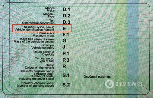 """Знайти VIN-код можна в техпаспорті у рядку """"Номер шасі"""""""