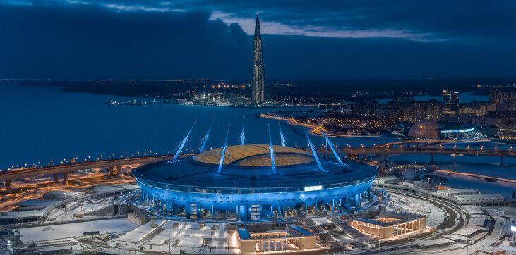 «Газпром Арена» в Санкт-Петербурге.